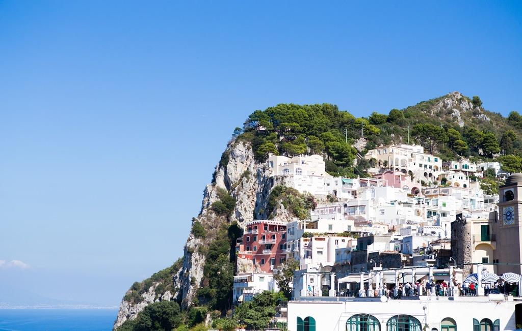 Veduta di Capri dalla Piazzetta