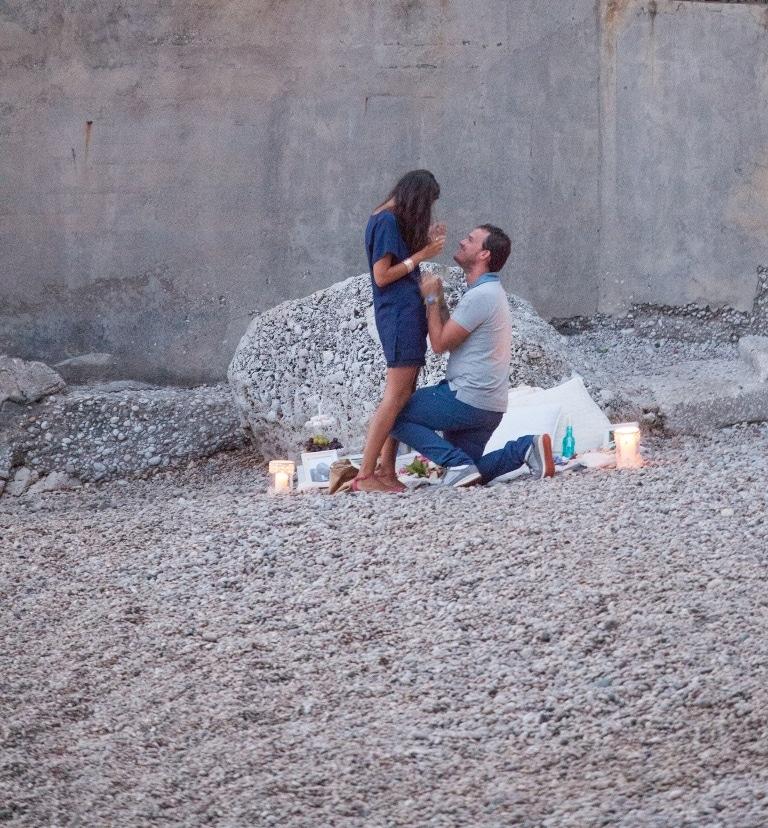 Proposta Di Matrimonio Spiaggia : Lucrezia e roberto proposta di matrimonio
