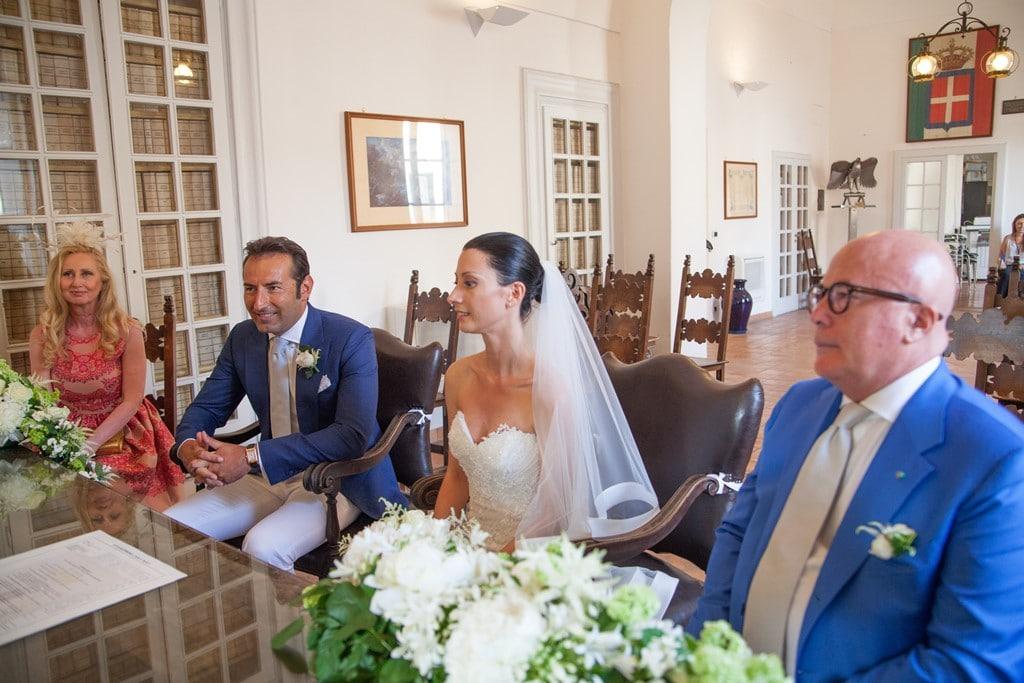 Cerimonia civile al comune di Capri