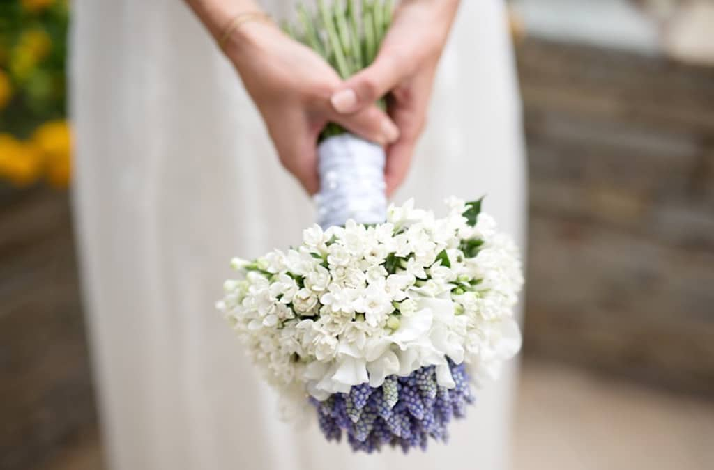 bouquet sposa di muscari
