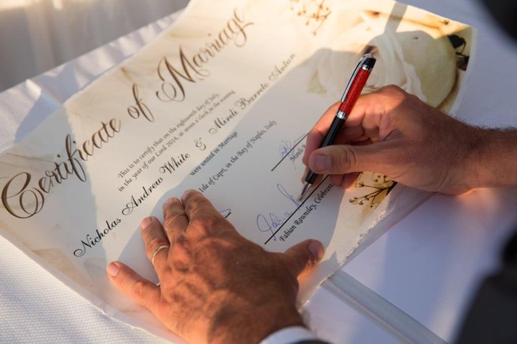 Certificato Matrimonio Simbolico : Matrimonio in riva al mare part
