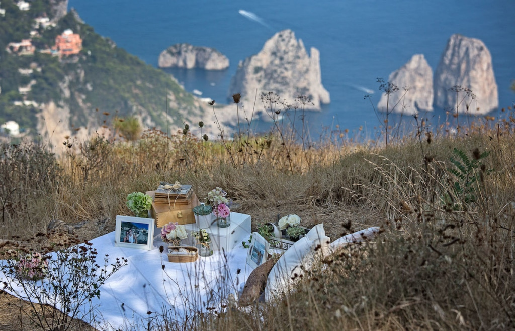 dichiarazione d'amore a Capri