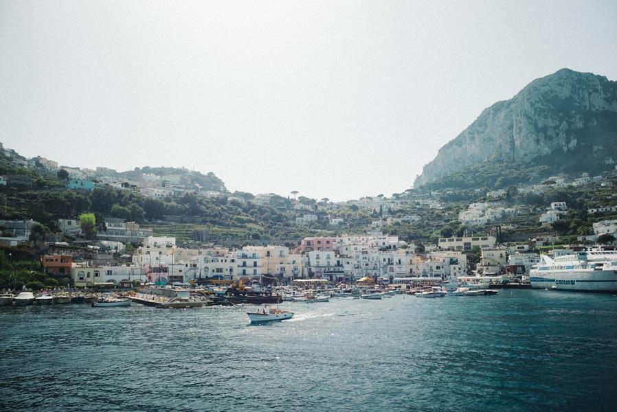 Nozze sull'isola di Capri