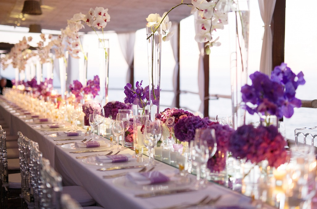 Decor for wedding table