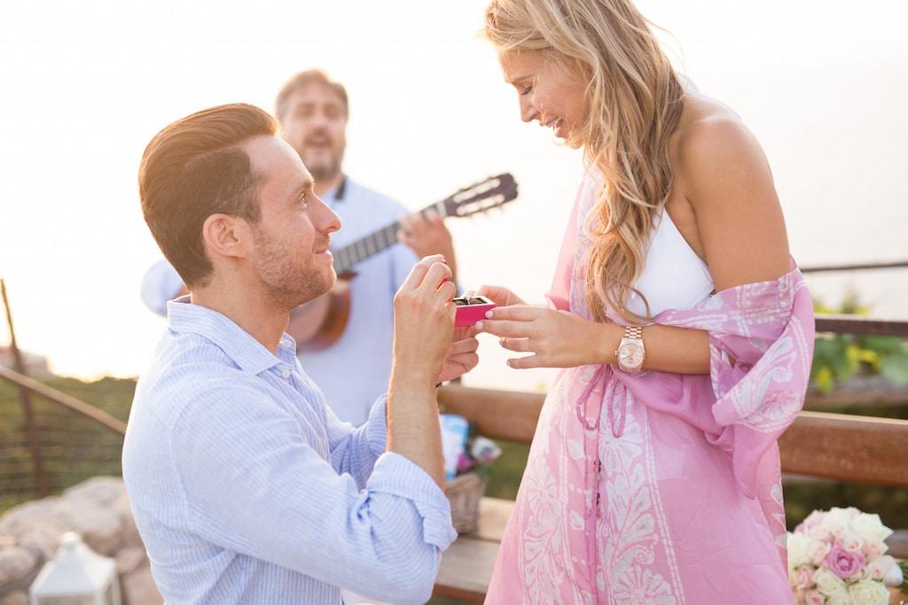 Emozionante proposta di matrimonio
