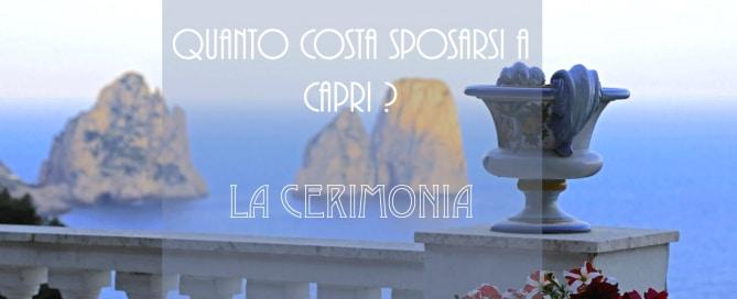 Budget per un matrimonio a Capri