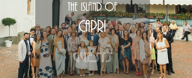 Guests at your Capri wedding
