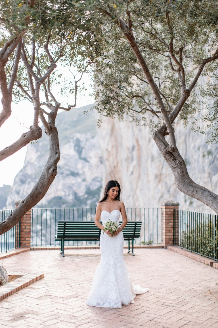 Matrimoni a Capri ed in Costiera Capri Moments production - Sposa ai Giardini di Augusto