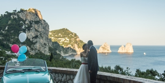 Matrimoni a Capri ed in Costiera Capri Moments production - Faraglioni e Fiat