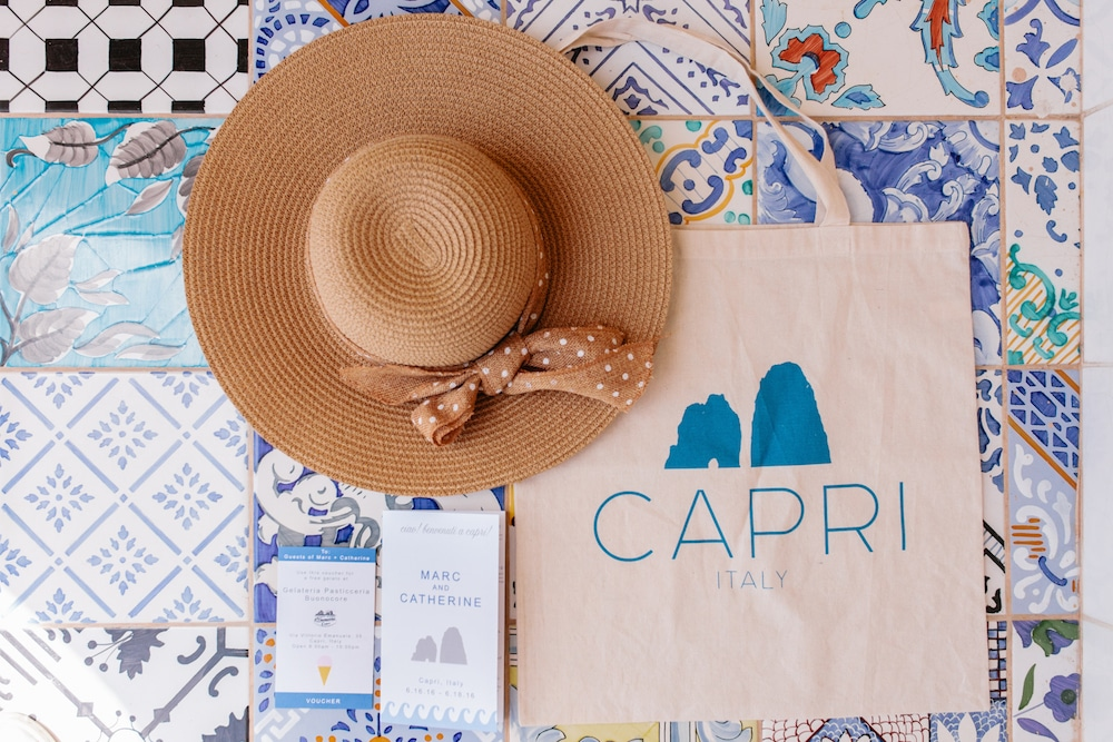 Details and Inspirations of real weddings by Capri Moments - Welcome bag
