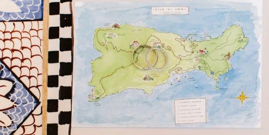 La mappa dell' isola