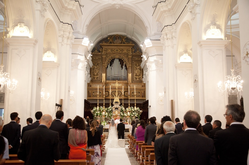 Catholic ceremony in Capri island