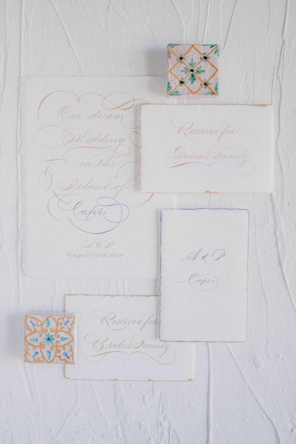 An all-white sophisticated destination wedding in Capri - Il Riccio beach club