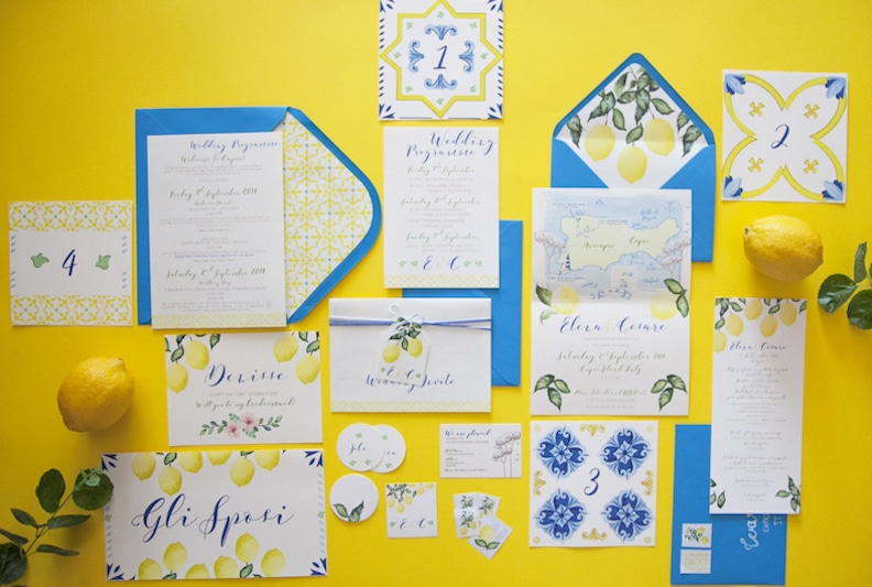 Details and Inspirations of real weddings by Capri Moments