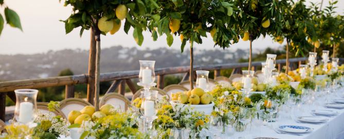 A lemon-themed intimate wedding in Capri