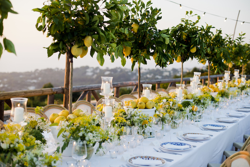 Lemon themed wedding on Capri island